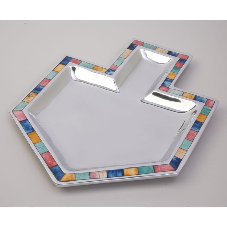 Aluminum Dreidle Tray w Inlay
