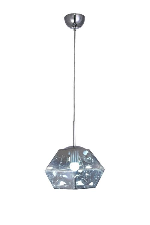 Bethel a Clear Acrylic Shade Single Pendant Light with Chrome Hardware
