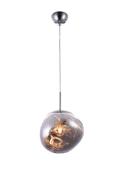 Bethel a Chrome Orb Acrylic Single Pendant Light with Chrome Hardware