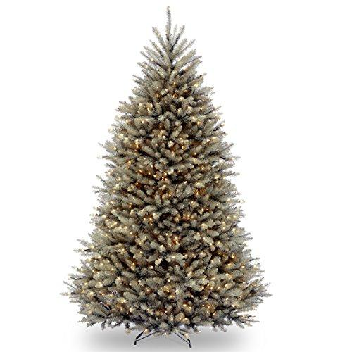 National Tree Dunhill Blue Fir Tree with Clear Lights