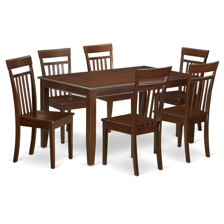 Dining Room Set - Dining Table And Dining Chairs [Item # DUCA7-MAH-W]