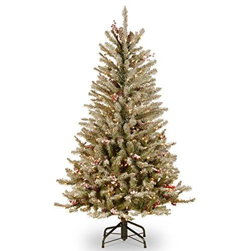Dunhill Fir Slim Tree with Clear Lights
