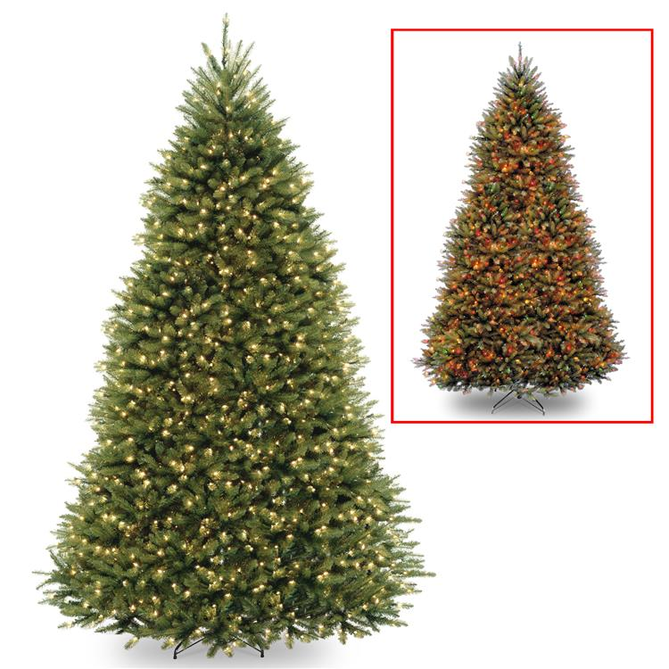National Tree Dunhill Fir Tree with Dual Color LED Lights