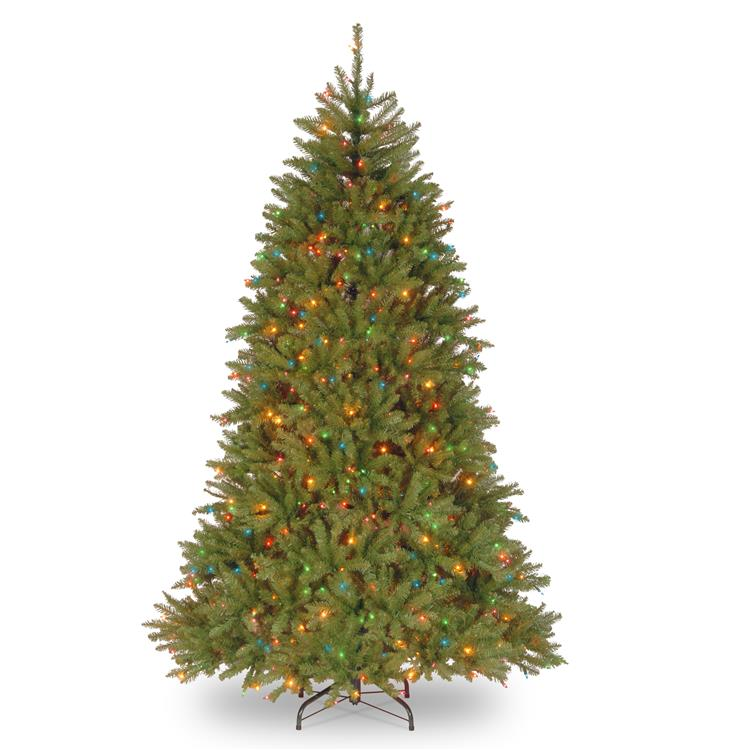National Tree Dunhill Fir Tree with Multicolor Lights [Item # DUH-75RLO]