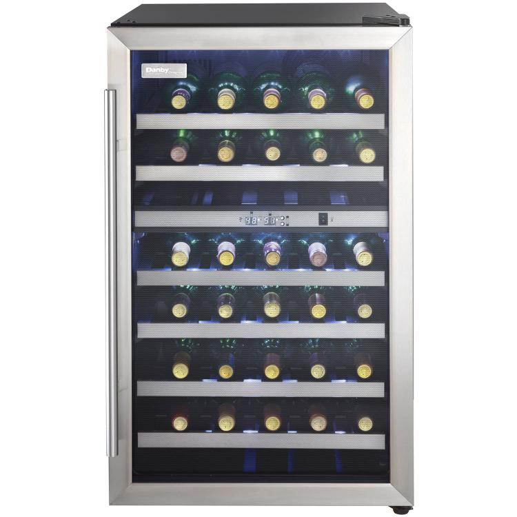 Danby Designer 38-Bottle Free-Standing Dual-Zone Wine Cooler - Black