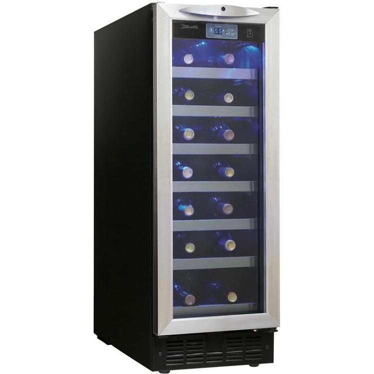 Danby DWC276BLS 27 Bottle Silhouette Wine Cellar - Black/Stainless