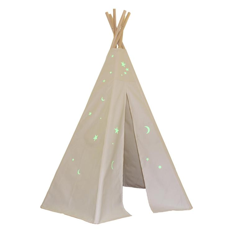Great Plains Teepee With Glow In The Dark Stars