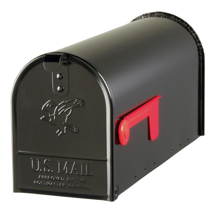 E11B Mailbox Rural Blk #1