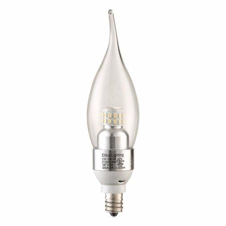 LED S30C35  E12 120V 4W 3000K 300LM  Dimmable CHROME