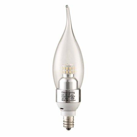 LED S30C35  E12 120V 4W 4100K 320LM  Dimmable CHROME