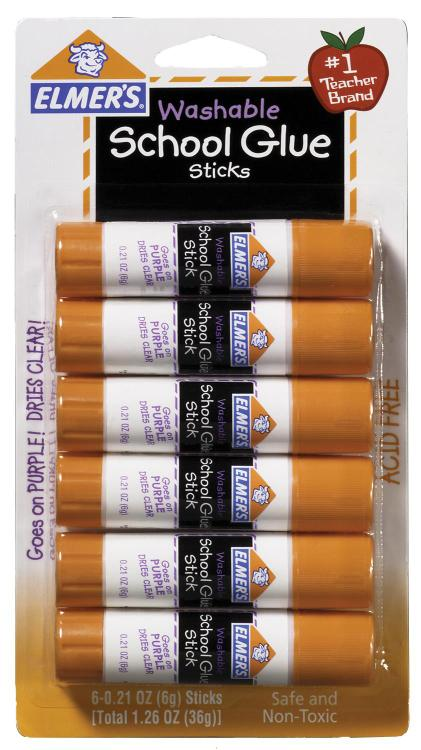 E1560 Glue Stick 1.2Oz 6Ct
