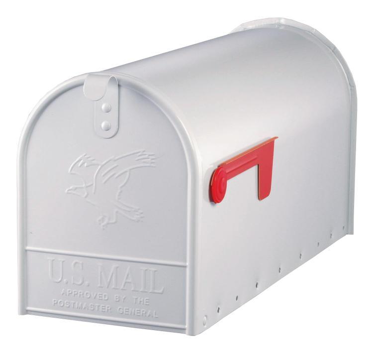 E1600W00 Mailbox Rural Wht #2