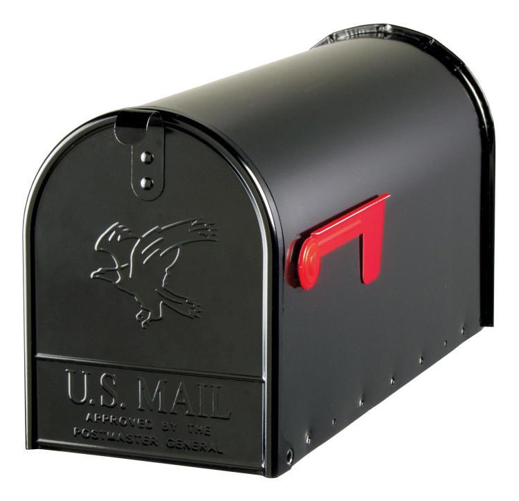 E16B Mailbox Rural Blk #2