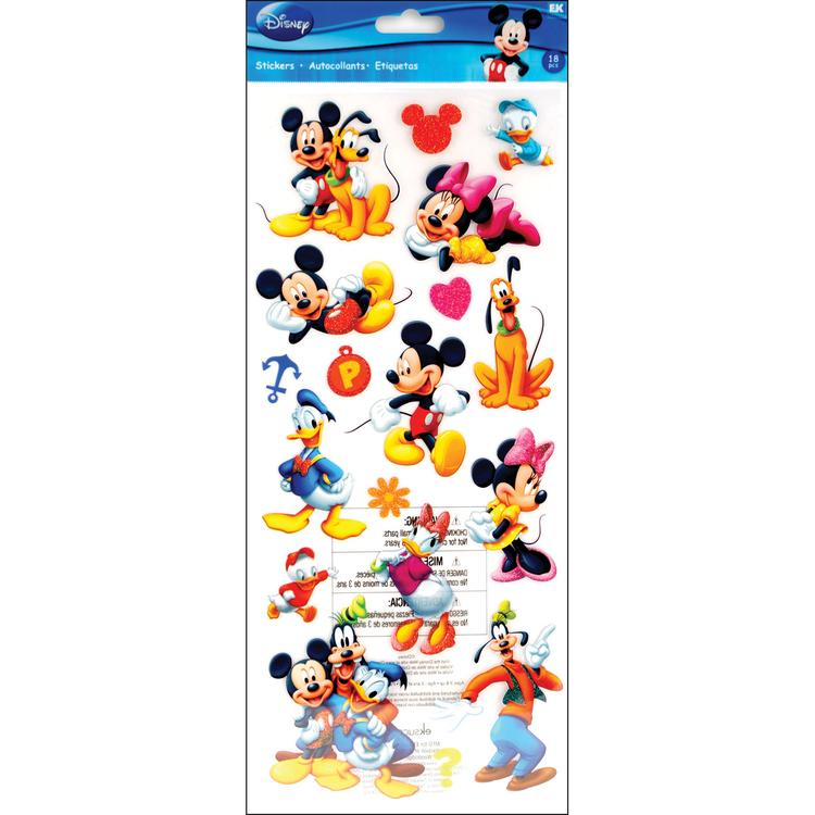 Disney Large Flat Stickers-Mickey & Friends