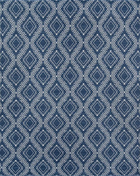Erin Gates by Momeni Easton Pleasant Navy Hand Woven Indoor Outdoor Area Rug 3'6