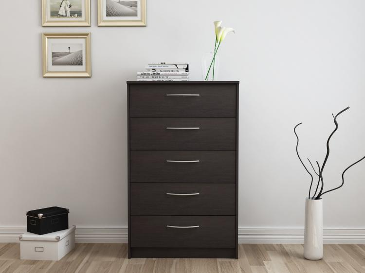 Finch 5 Drawer Chest, Espresso [Item # EB108735Q]