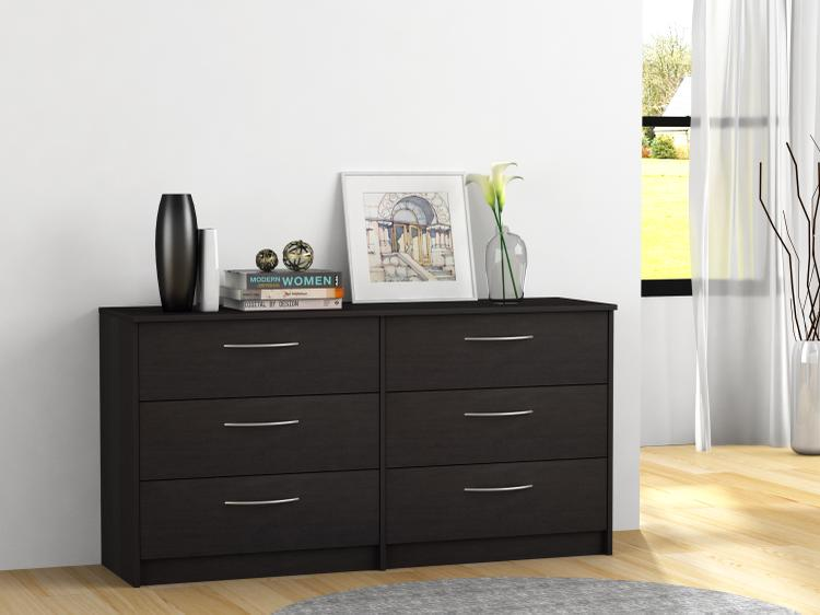 Finch 6 Drawer Dresser, Espresso