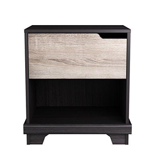 Homestar Waterloo 1-drawer nighstand - Java Brown/Sonoma