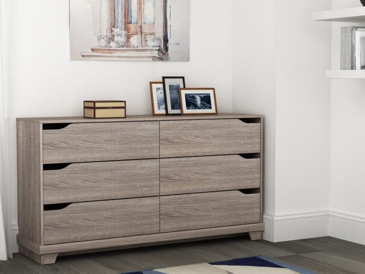 Homestar Waterloo 6-drawer dresser - Sonoma