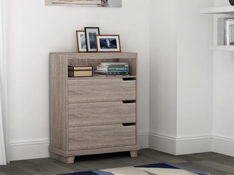 Homestar Waterloo 3-drawer chest - Sonoma