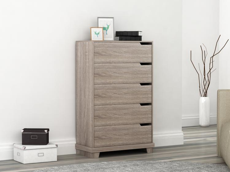 Homestar Waterloo 5-drawer chest - Sonoma