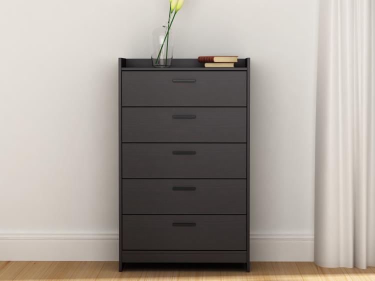 Central Park 5 Drawer Chest - Espresso