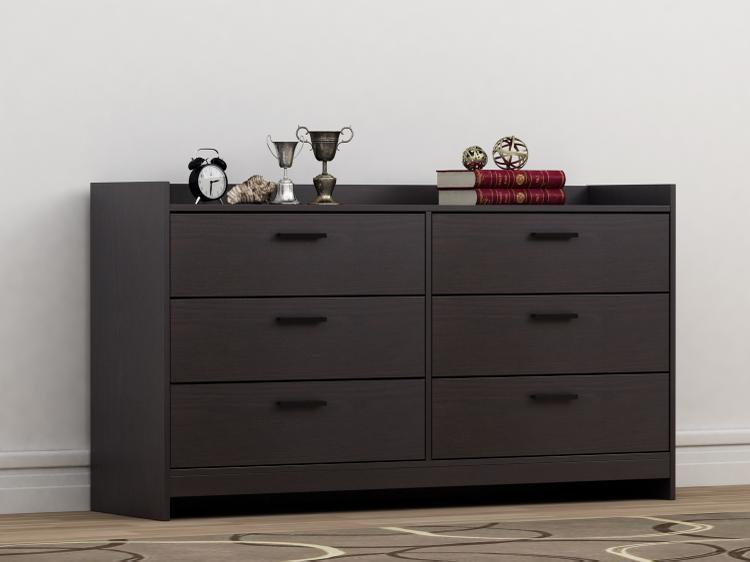 Homestar Central Park 6 Drawer Dresser - Espresso