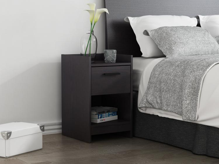 Central Park 1 Drawer Nightstand - Espresso [Item # EB208753B9]