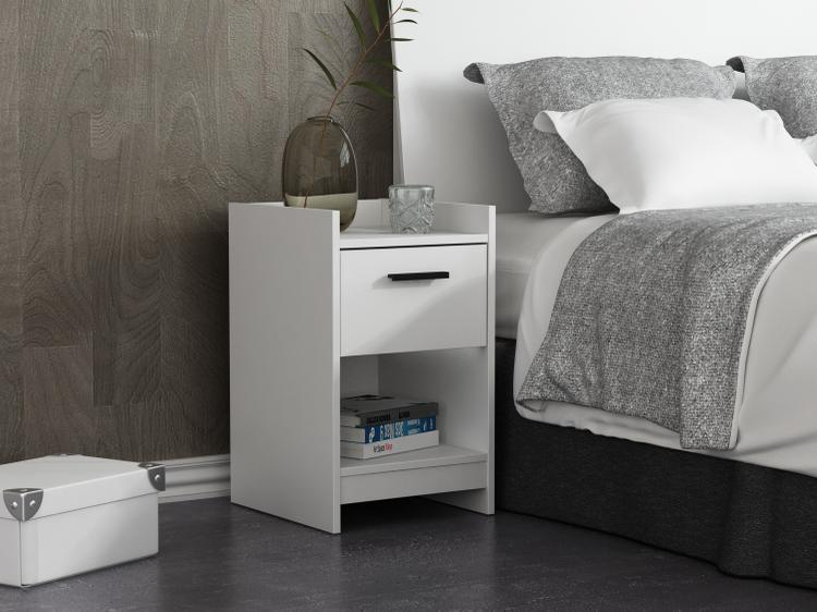Central Park 1 Drawer Nightstand - White