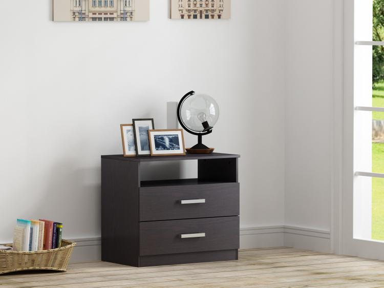 Alexander - 2 Drawer Nightstand - Espresso