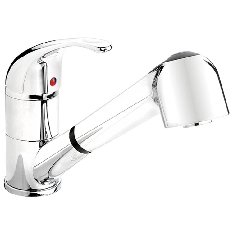 Keeney Belanger Kitchen Sink Faucet with Swivel Pull Out Spout in Polished Chrome