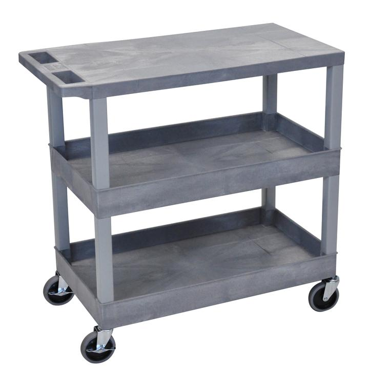 Luxor Cart - Two Tub/One Flat Shelves