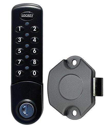 EC780 Digital Combination Electronic Cabinet/Locker Lock, Black, Vertical with SLAM Latch