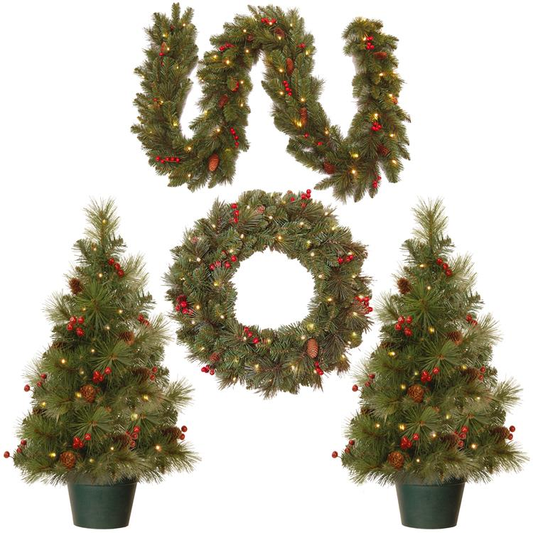 National Tree Promotional Assortment with Battery Operated LED Lights
