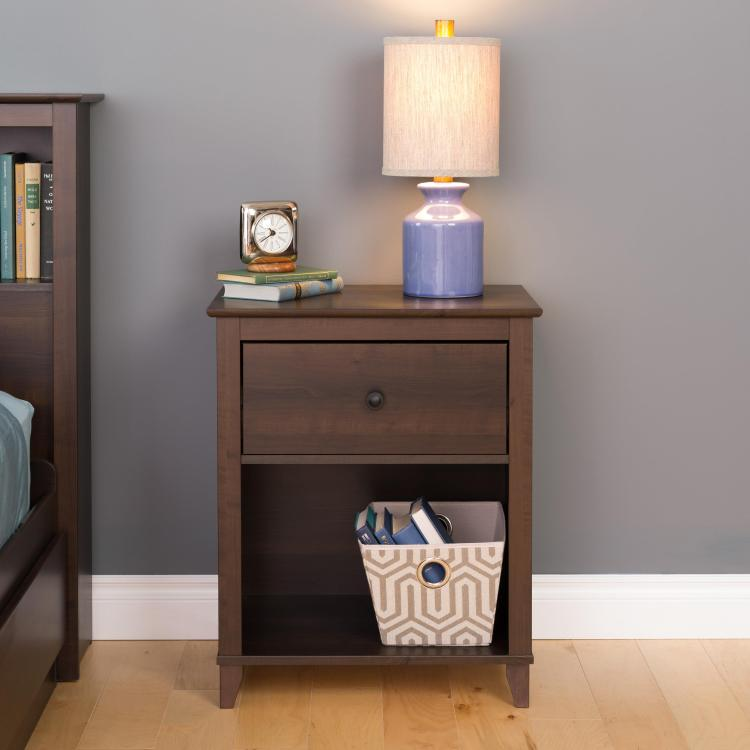 Yaletown 1-Drawer Tall Nightstand