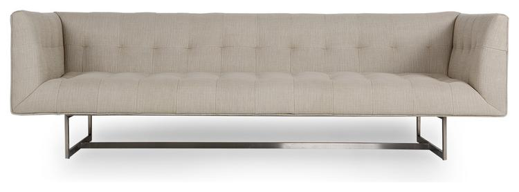 Kardiel Edward Midcentury Modern Classic Sofa, Urban Hemp, Material: Twill