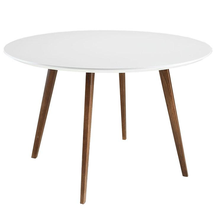 LexMod Platter Round Dining Table