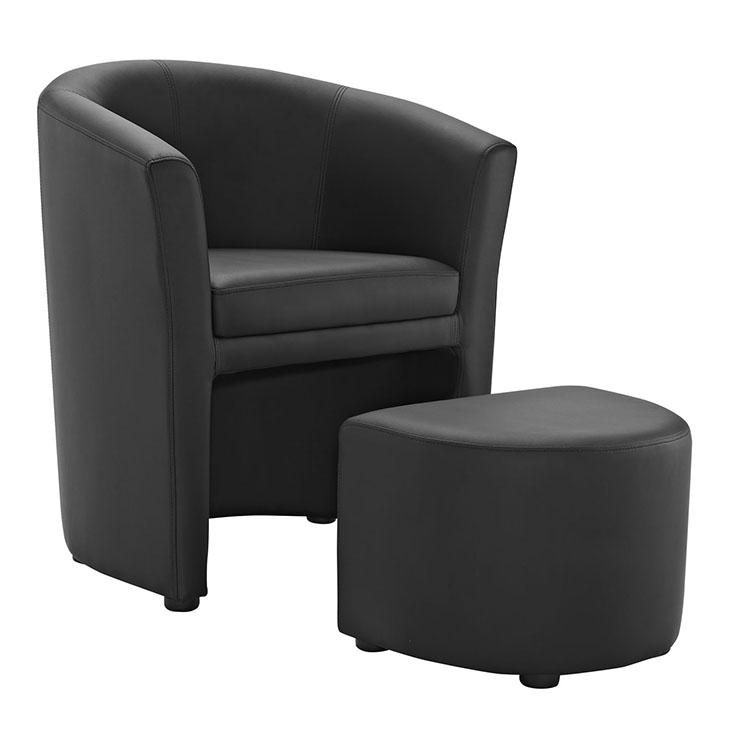 LexMod Divulge Armchair And Ottoman
