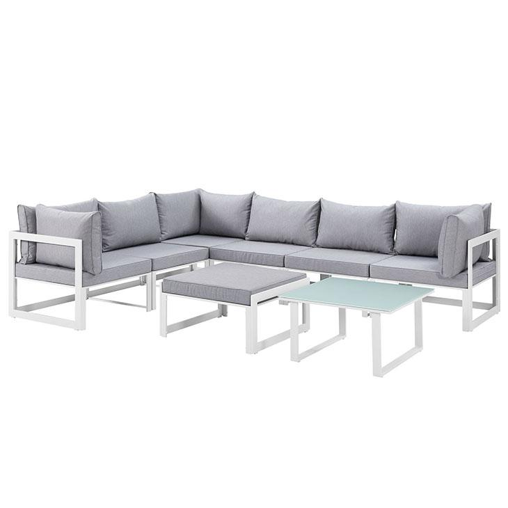 Modway Fortuna Outdoor Patio Sectional Sofa Set