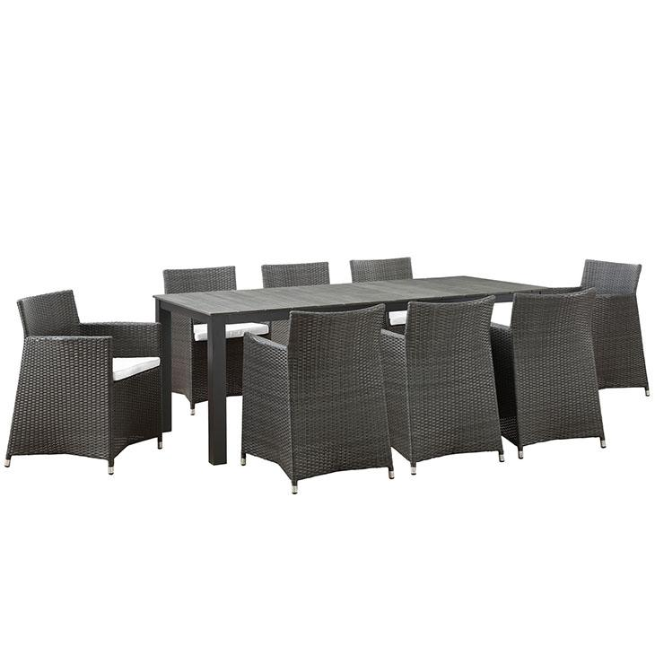 LexMod Junction Outdoor Patio Dining Set