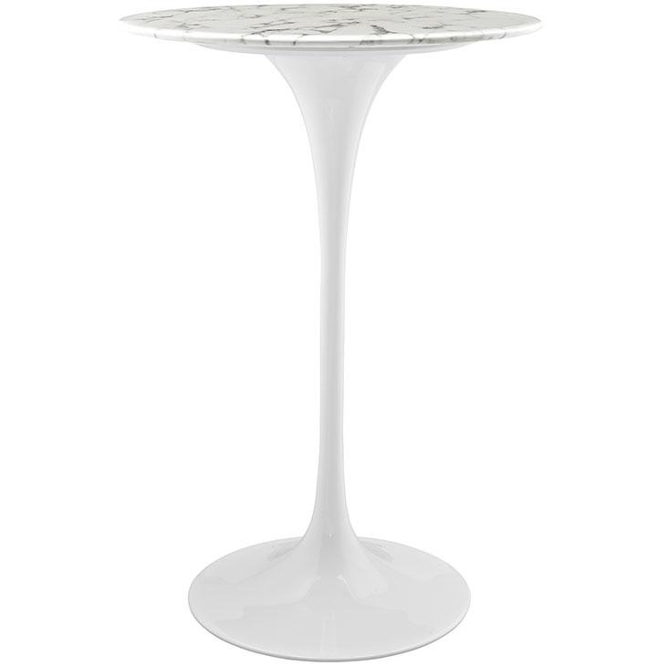 LexMod Lippa Artificial Marble Bar Table