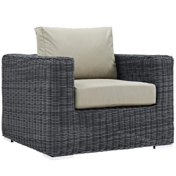 Modway Summon Outdoor Patio Fabric Sunbrella® Armchair