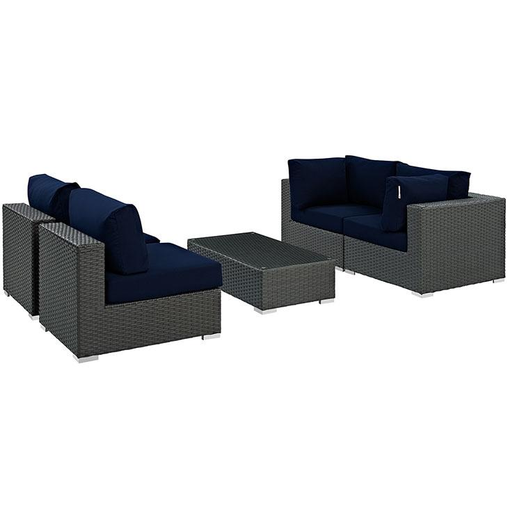 Sojourn Outdoor Patio Sunbrella® Sectional Set