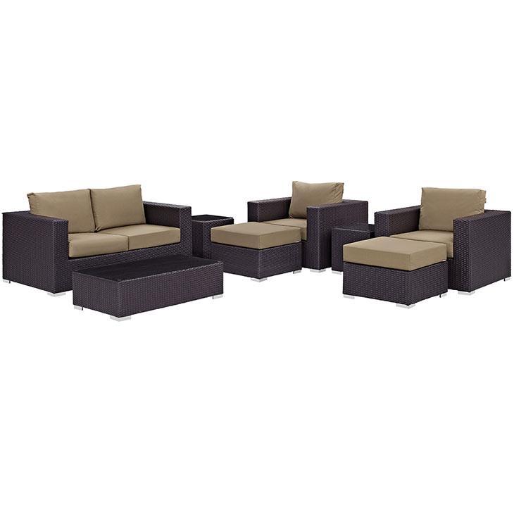 LexMod Convene Outdoor Patio Sofa Set