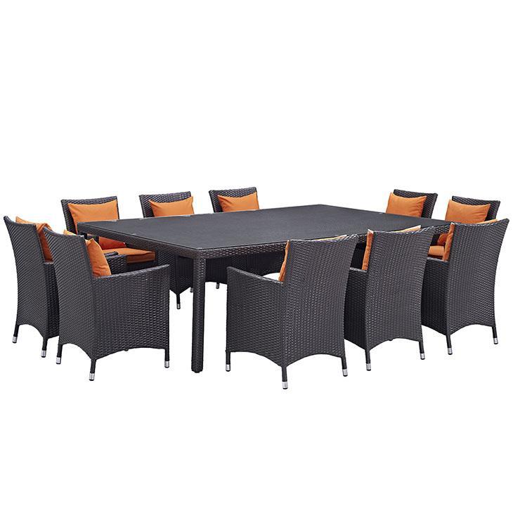 LexMod Convene Outdoor Patio Dining Set