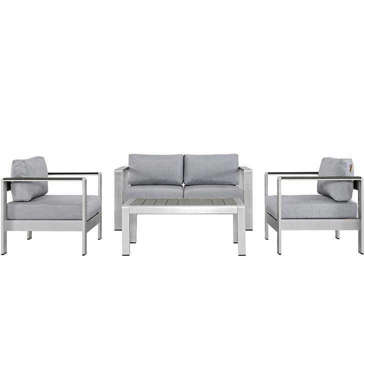 Shore Outdoor Patio Aluminum Sectional Sofa Set