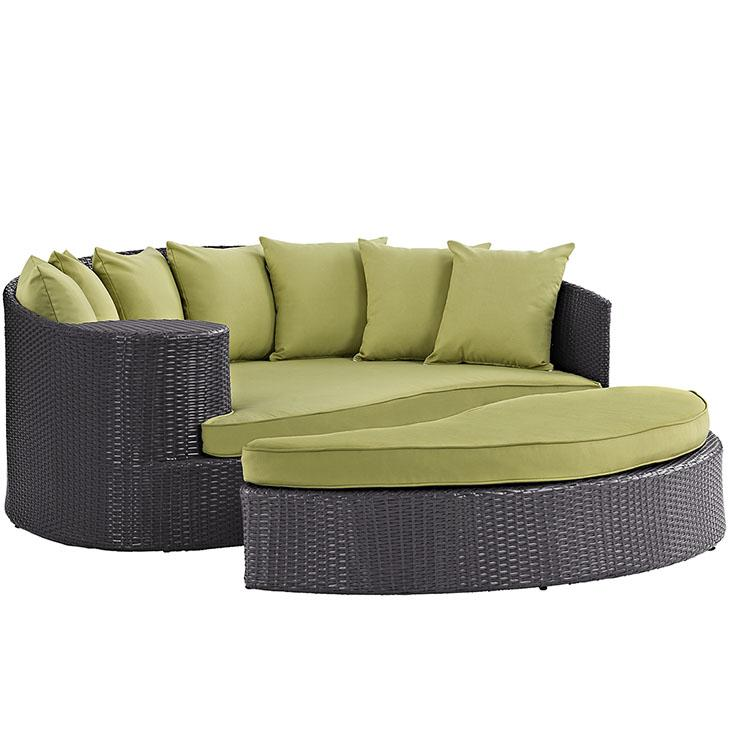 LexMod Taiji Outdoor Patio Wicker Daybed