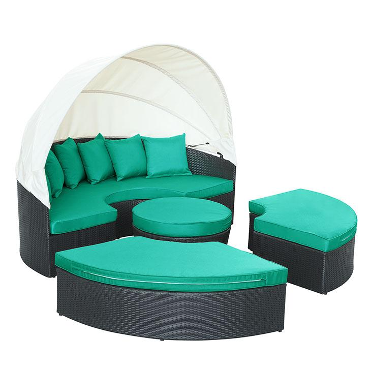 LexMod Quest Canopy Outdoor Patio Daybed