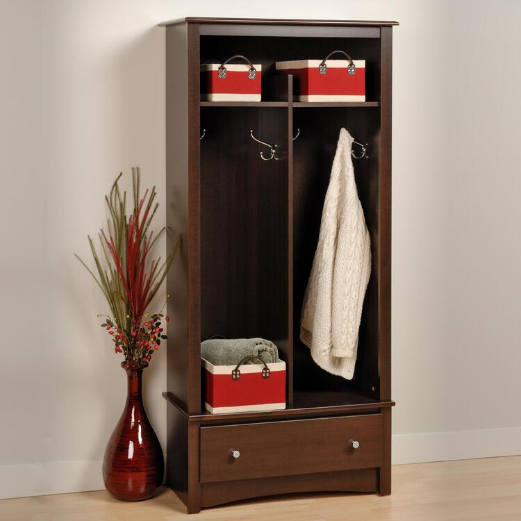 1 Drawer Locker, Color Espresso