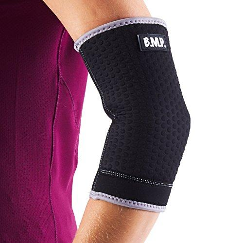 Black Mountain Products Extra Thick Warming Black Elbow Brace / Elbow Compression Sleeve. Black Large